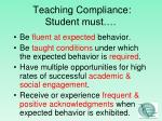 teaching compliance student must