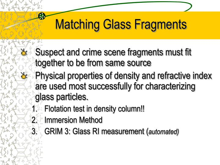 Matching glass fragments