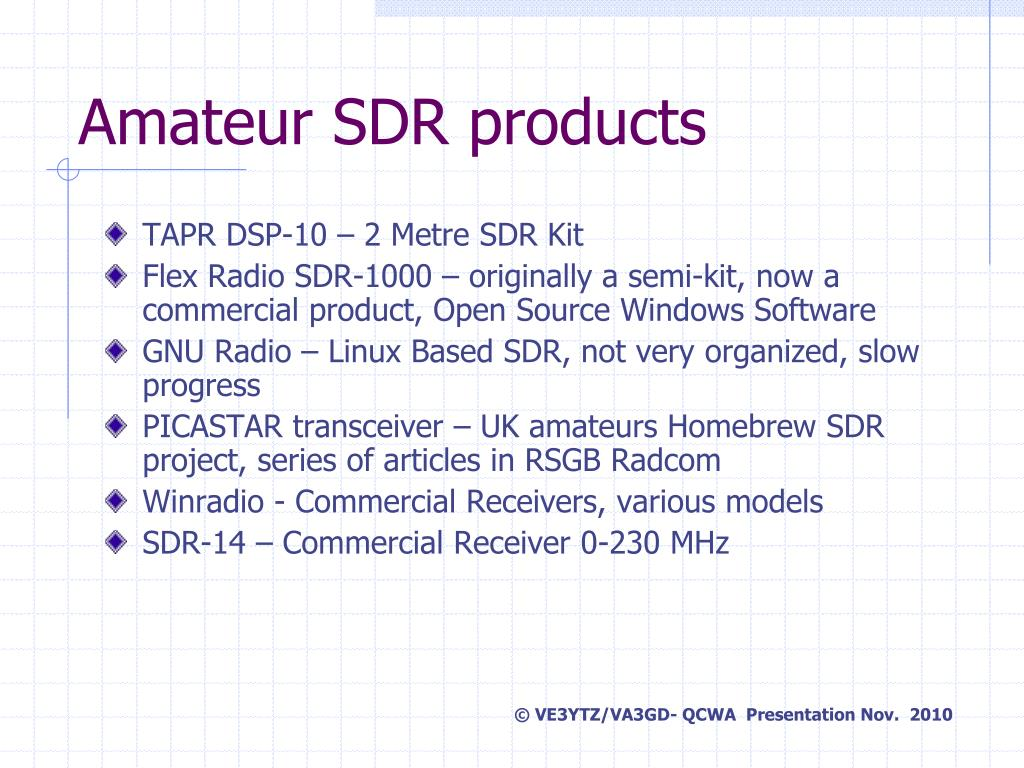 PPT - Software Defined Radio A Personal Journey… PowerPoint