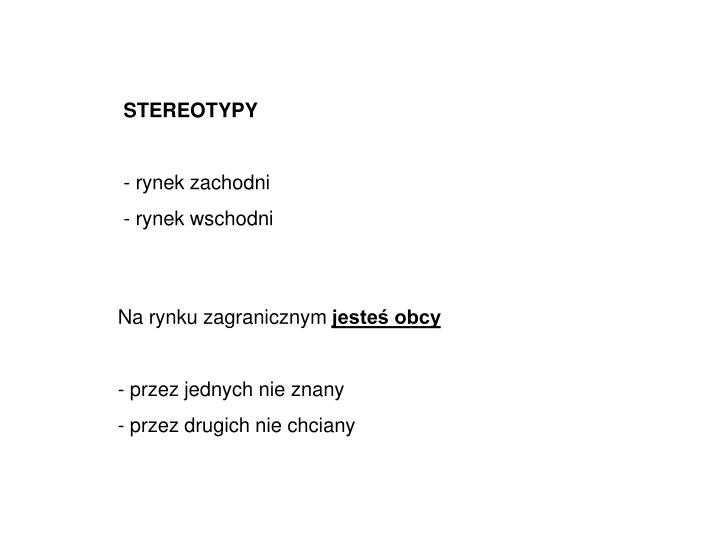 STEREOTYPY
