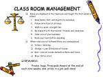 class room management