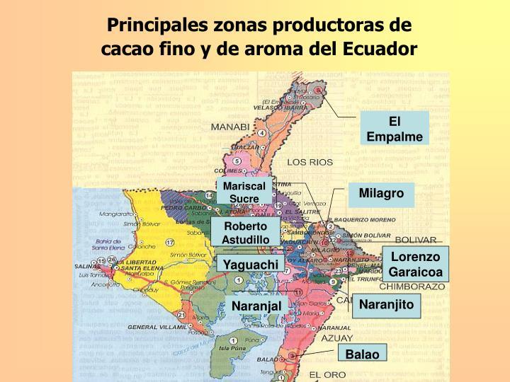 Principales zonas productoras de