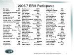 2006 7 erm participants