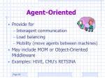 agent oriented1