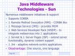 java middleware technologies sun