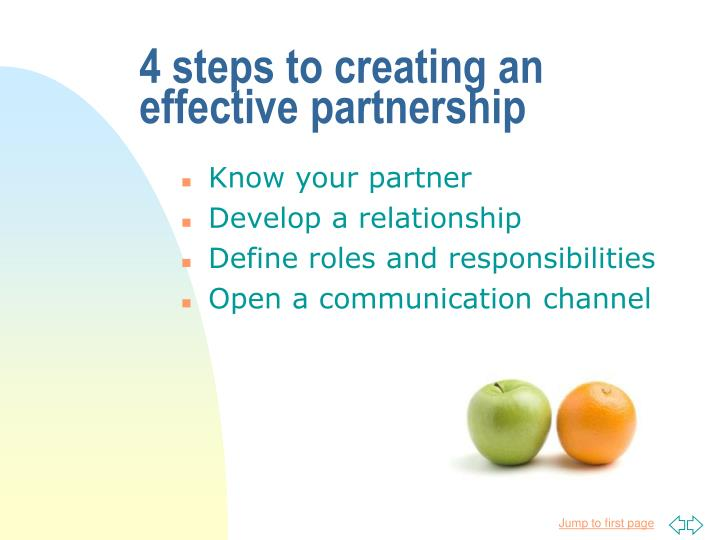 4 steps to creating an effective partnership