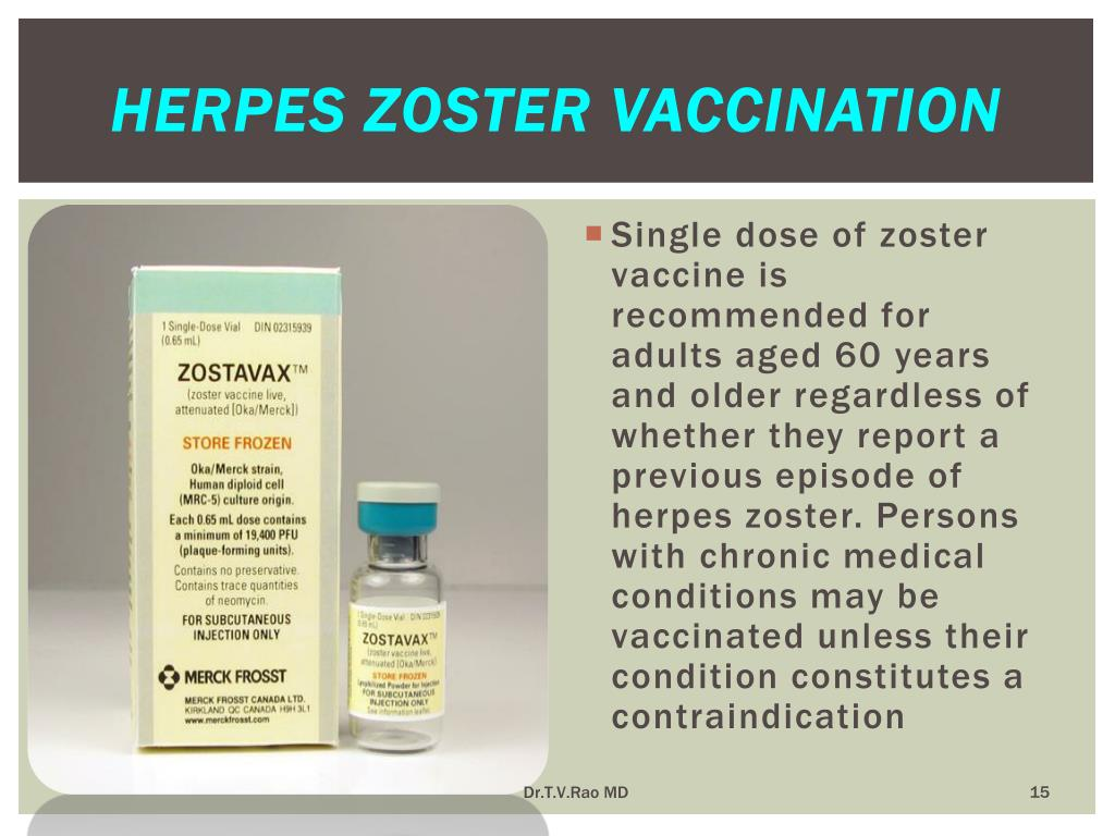 Herpes zoster vaccination
