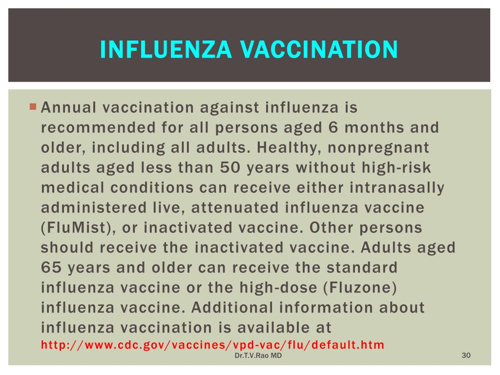 Influenza vaccination
