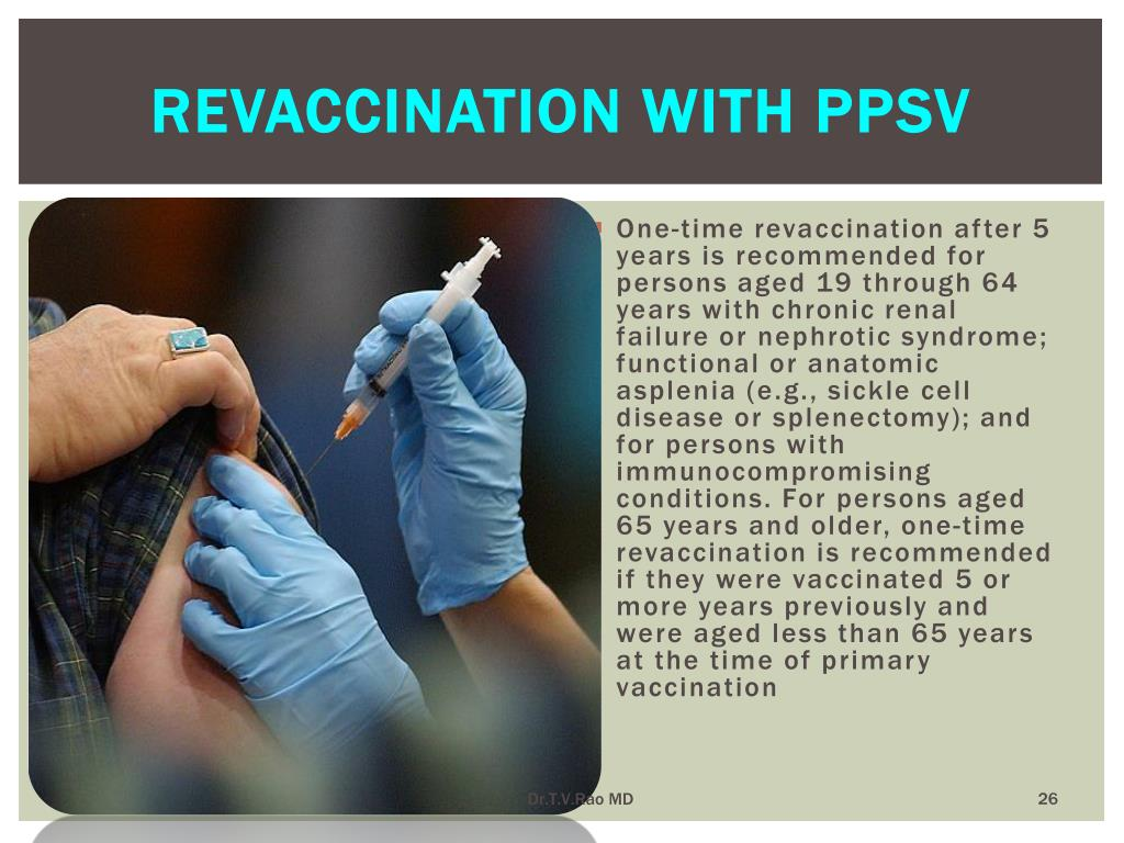 Revaccination with PPSV