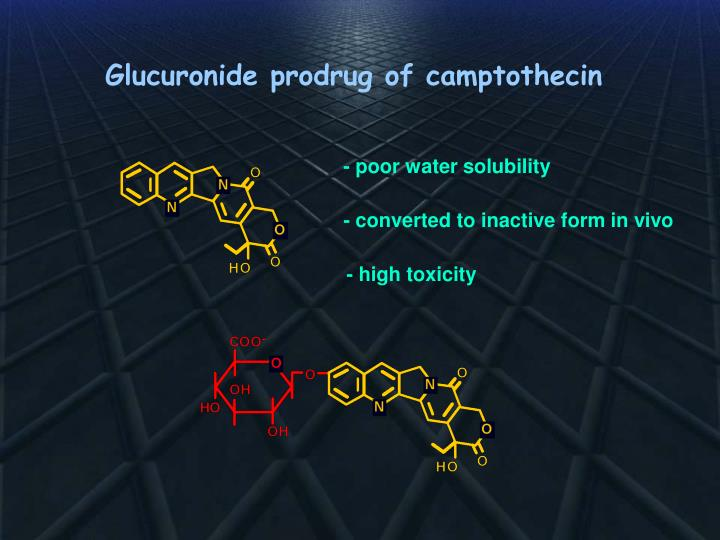 Glucuronide prodrug of camptothecin