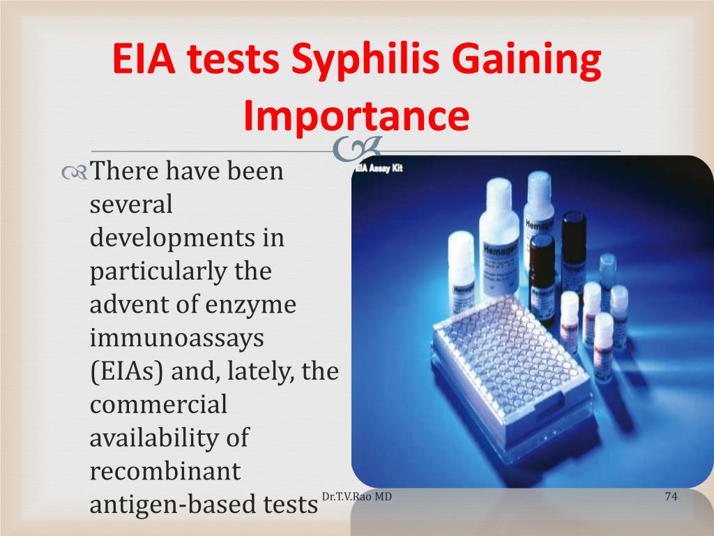 EIA tests Syphilis Gaining Importance
