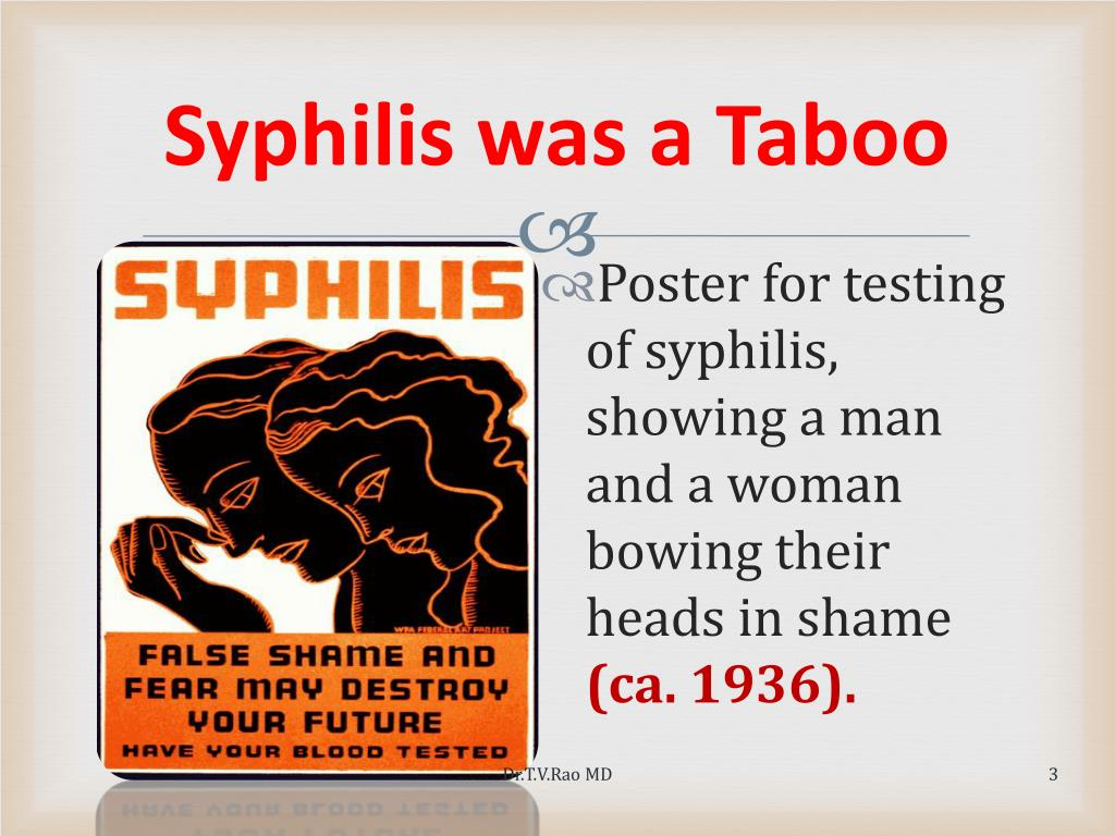 Syphilis was a Taboo