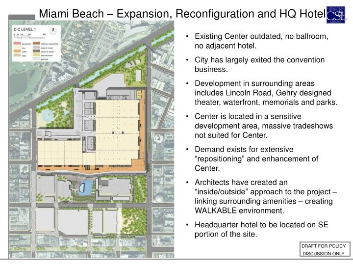 Miami Beach – Expansion, Reconfiguration and HQ Hotel