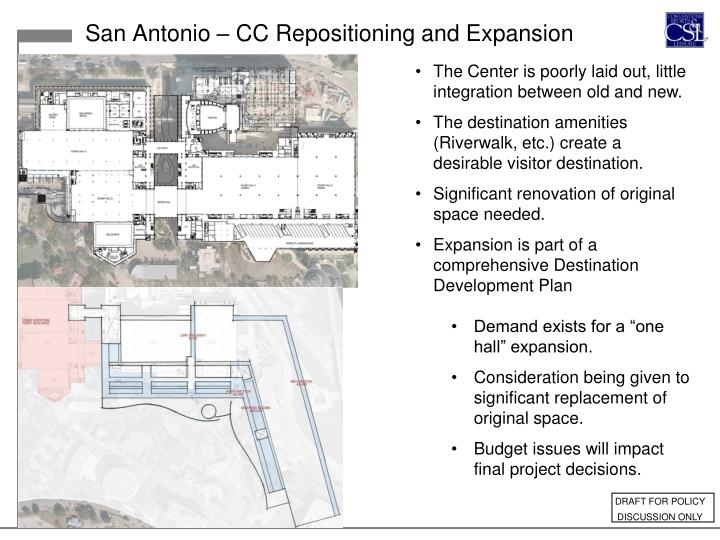 San Antonio – CC Repositioning and Expansion