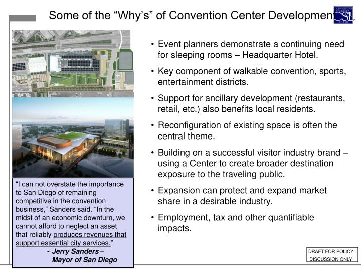 "Some of the ""Why's"" of Convention Center Development"