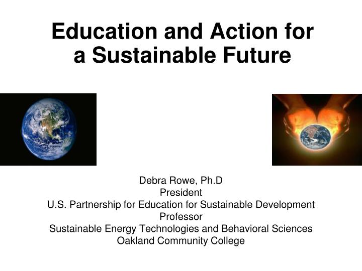 education and action for a sustainable future n.