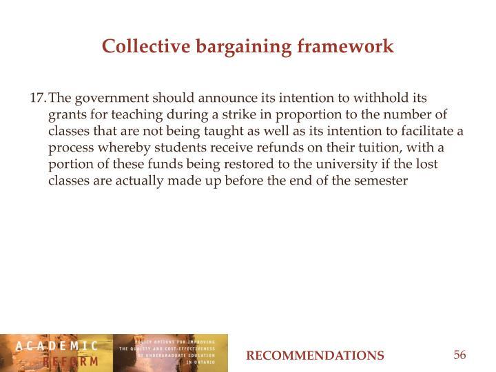 Collective bargaining framework