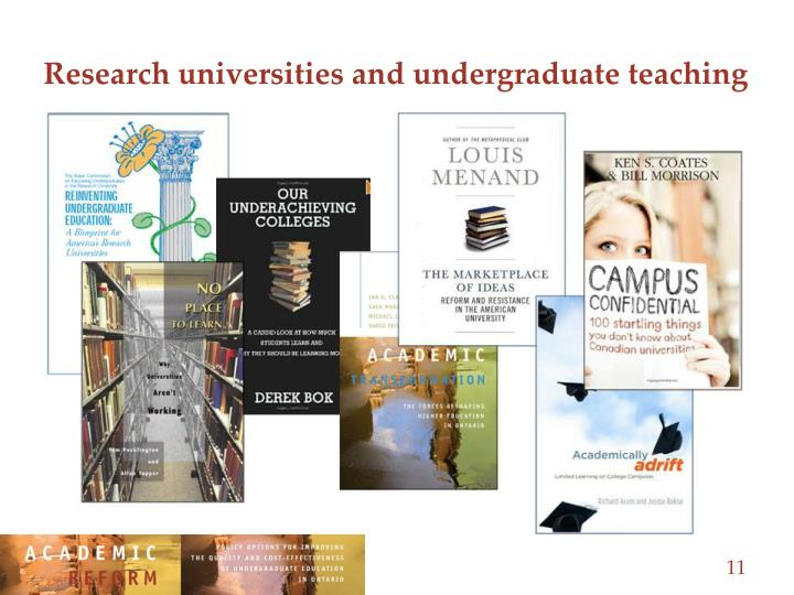 Research universities and undergraduate teaching
