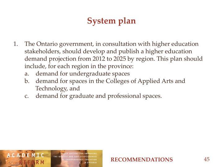 System plan