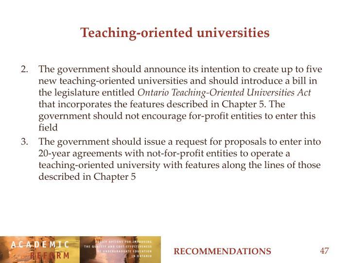 Teaching-oriented universities