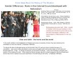 gender differences roots in the colonial era and developed with nationalism
