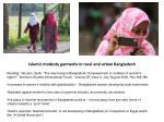islamic modesty garments in rural and urban bangladesh