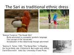 the sari as traditional ethnic dress