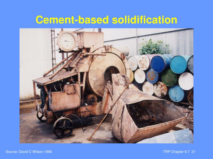 Cement-based solidification