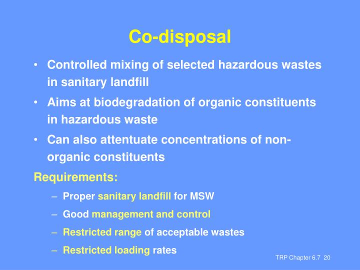 Co-disposal