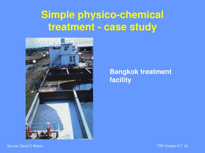 Simple physico-chemical treatment - case study