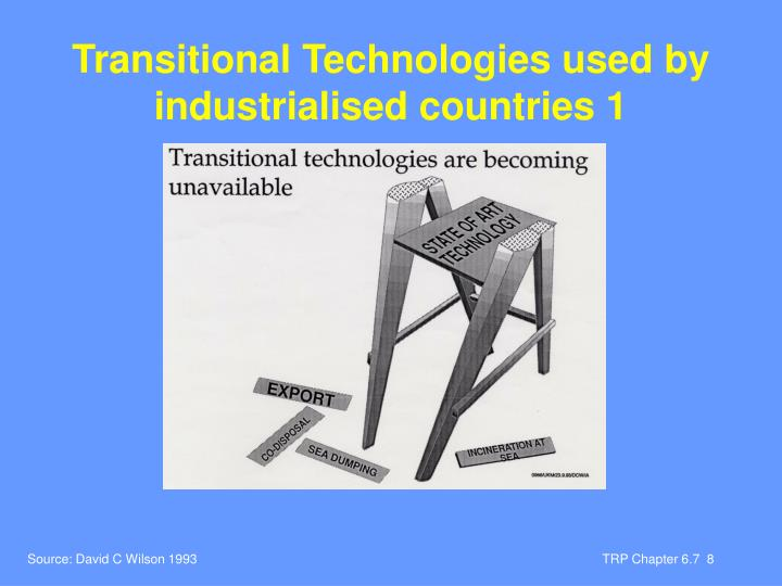Transitional Technologies used by industrialised countries 1