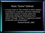 music scene defined