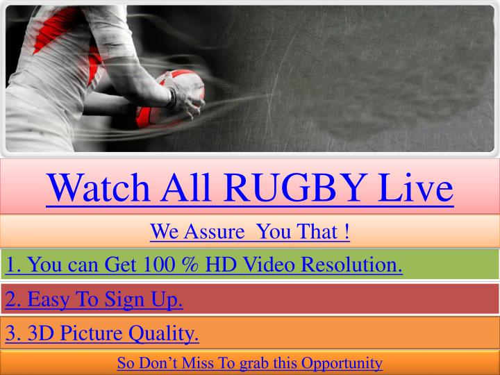 Watch All RUGBY Live