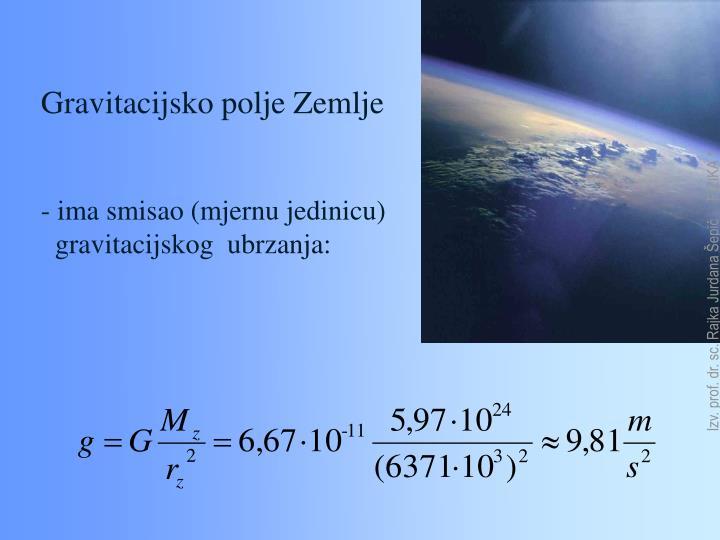 Gravitacijsko polje Zemlje