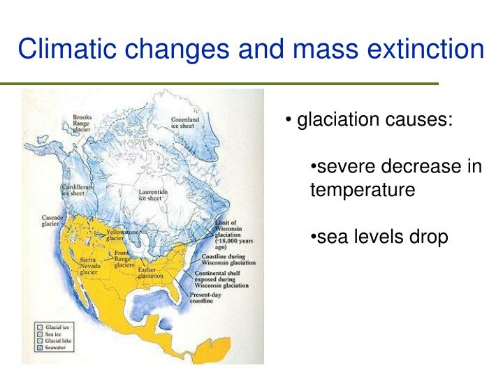 Climatic changes and mass extinction