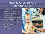 pneumococcal disease and vaccination