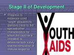 stage ii of development