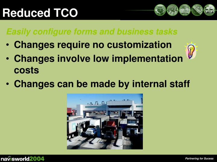 Reduced tco