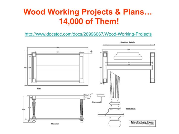Wood Working Projects & Plans…