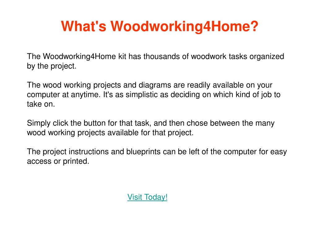 What's Woodworking4Home?