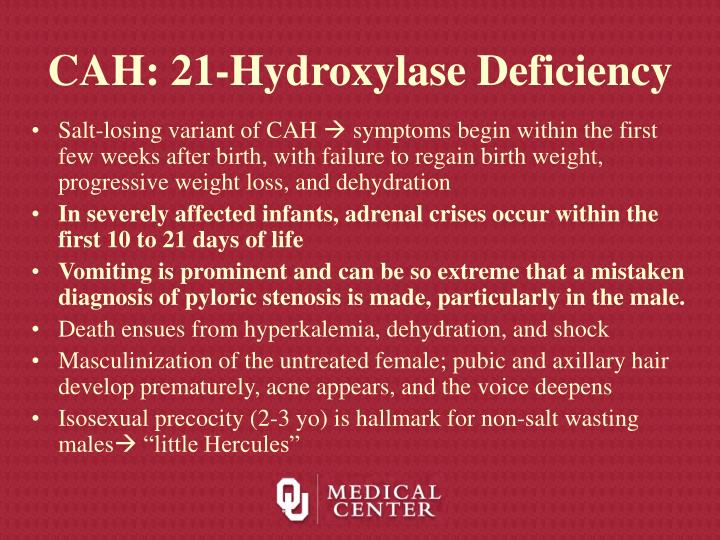 CAH: 21-Hydroxylase Deficiency