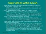 major efforts within noaa