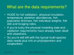 what are the data requirements