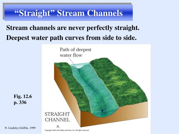 """Straight"" Stream Channels"