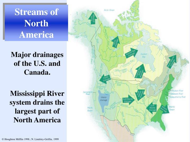 Streams of North America