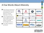 a few words about attensity