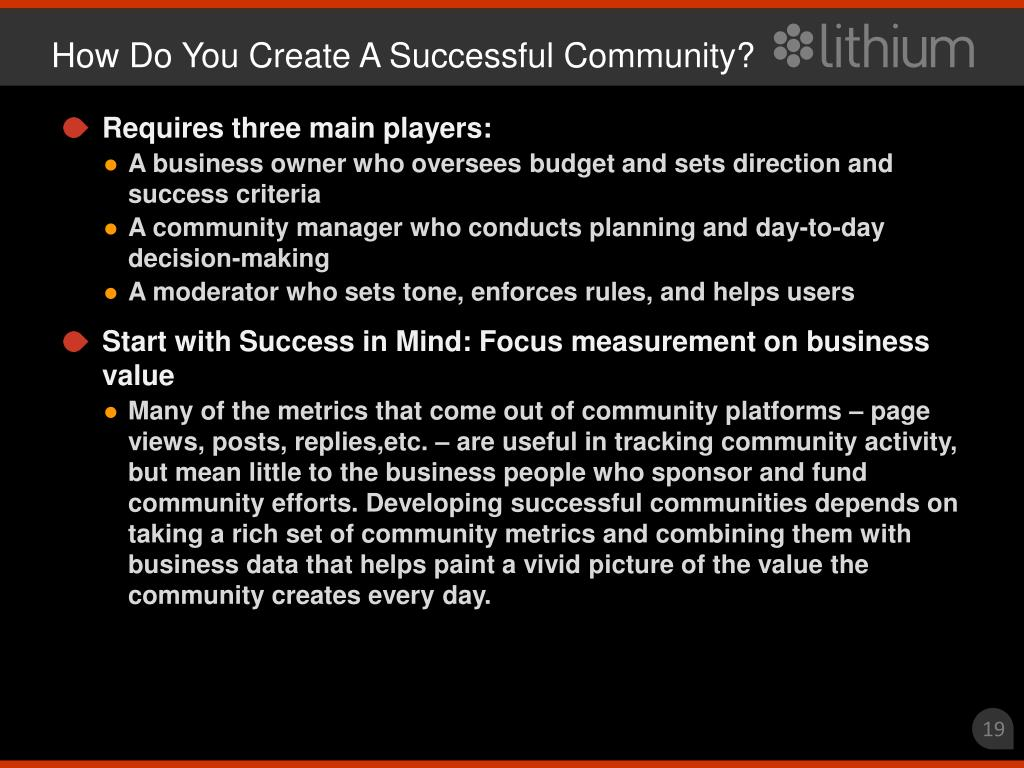 How Do You Create A Successful Community?