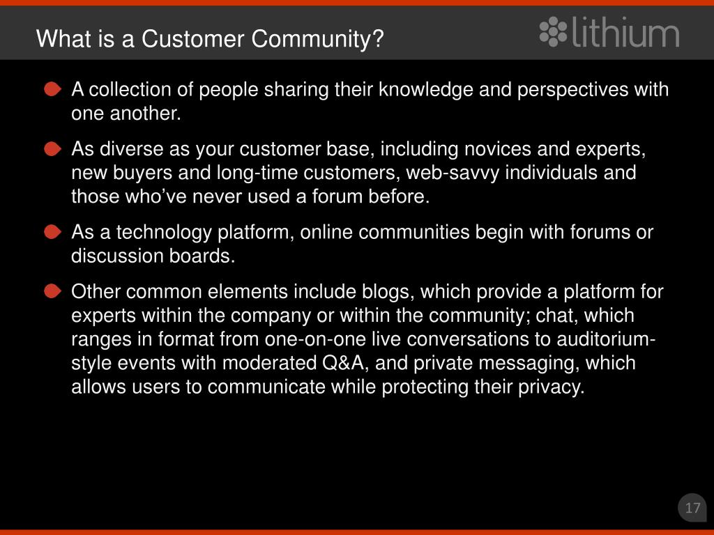 What is a Customer Community?