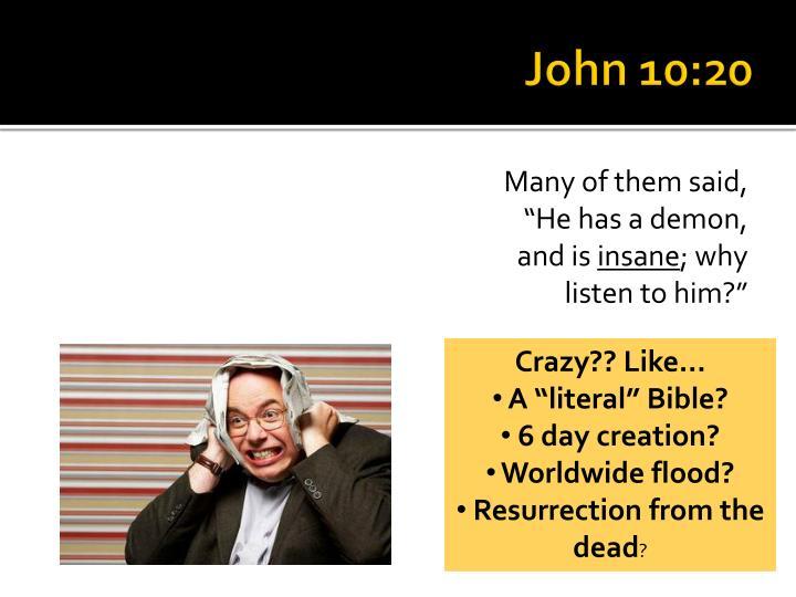 John 10:20