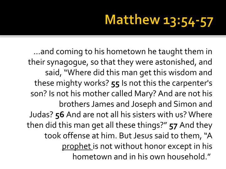 Matthew 13:54-57